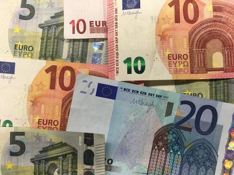 Photo free euro, banknotes euro, money