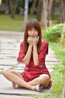 Фото бесплатно глядя, азиатские девушки, взгляд шатенки