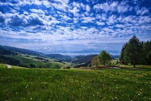 Заставки Karnten,Austria,поля,холмы,деревья,небо,пейзаж