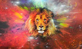 Фото бесплатно лев, художник, произведение искусства