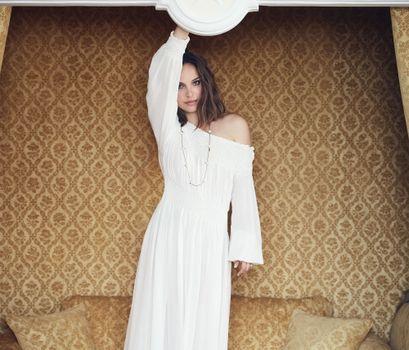 Photo free Natalie Portman, actress, white dress