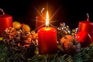 Рождественские свечки · бесплатное фото