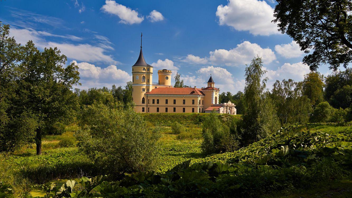 Фото бесплатно Saint-Petersburg, Pavlovsk Park, Castle Mariental, Санкт-Петербург, Павловский парк, Замок Мариенталь, пейзажи