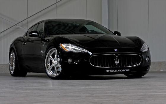 Фото бесплатно Maserati Granturismo, черный, передний план