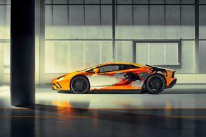 Фото бесплатно автомобили 2019 года, Lamborghini Aventador S, Lamborghini