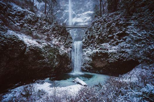 Фото бесплатно Мултнома Фолс, Орегон, ориентир