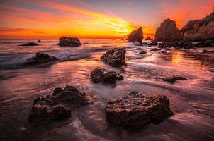 Фото бесплатно Калифорния, калифорнийская скала, скалистый берег