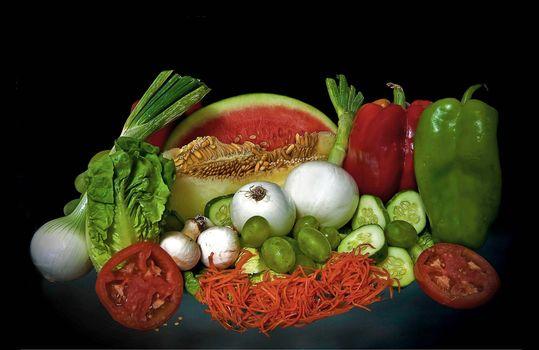 Фото бесплатно овоши, фрукты, лук