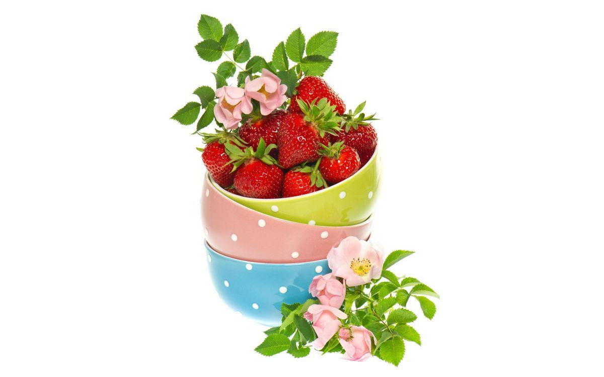 Фото бесплатно ягоды, клубника - на рабочий стол