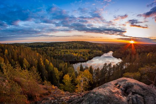 Screensaver sunset, autumn free download