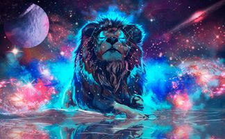 Photo free lion, predator, planet