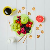 Photo free fruits, berries, coffee