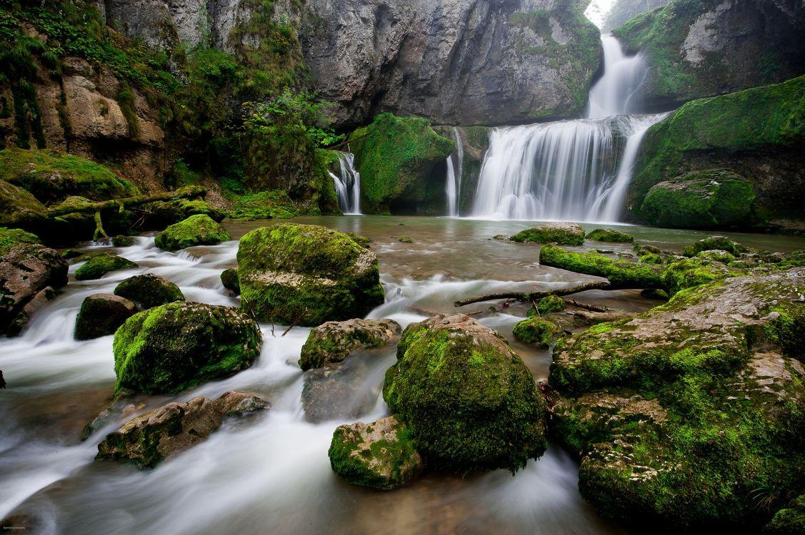 Фото водопад валуны камни - бесплатные картинки на Fonwall