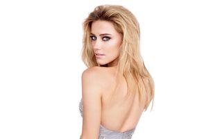 Photo free Amber Heard, dress, blonde