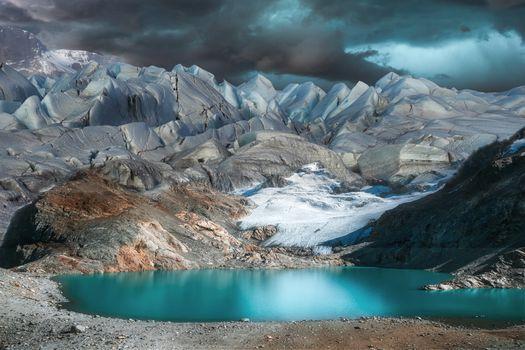 Фото бесплатно облака, вершины, озеро