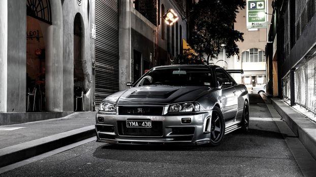 Фото бесплатно Nissan GTR, автомобили, Behance