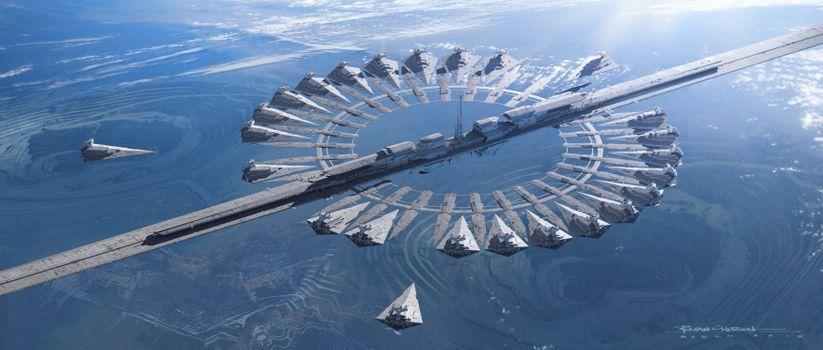 Заставки космический корабль, произведение искусства, rogue one