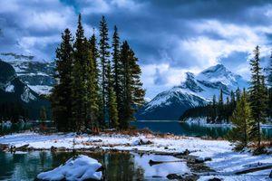 Photo free island, Jasper National Park, landscape