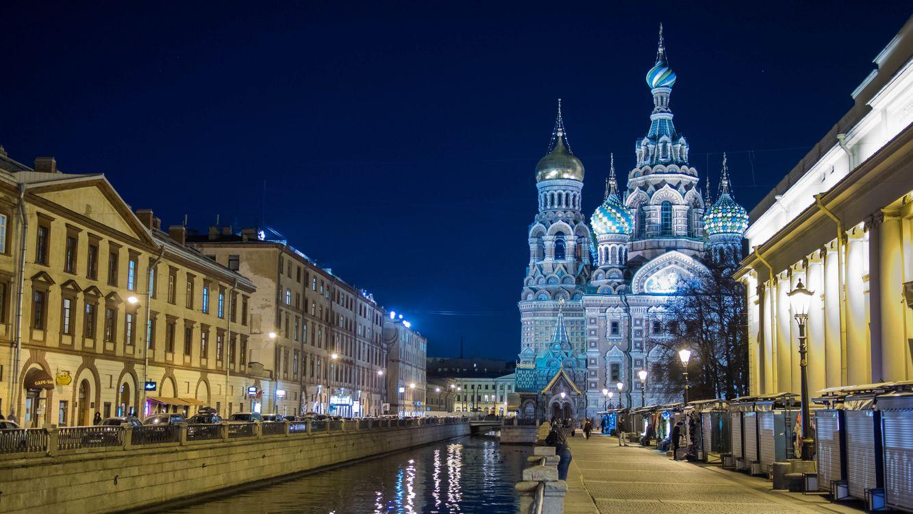 Картинка Церковь Спаса-на-Крови, Санкт-Петербург на рабочий стол. Скачать фото обои город