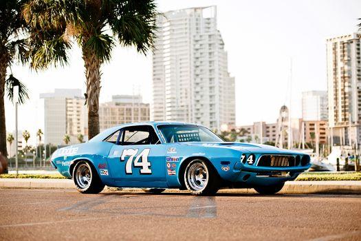 Заставки Додж против 1974, мускул, автомобили