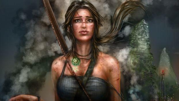 Photo free games, artist, Lara Croft