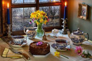 Photo free food, knife, tea