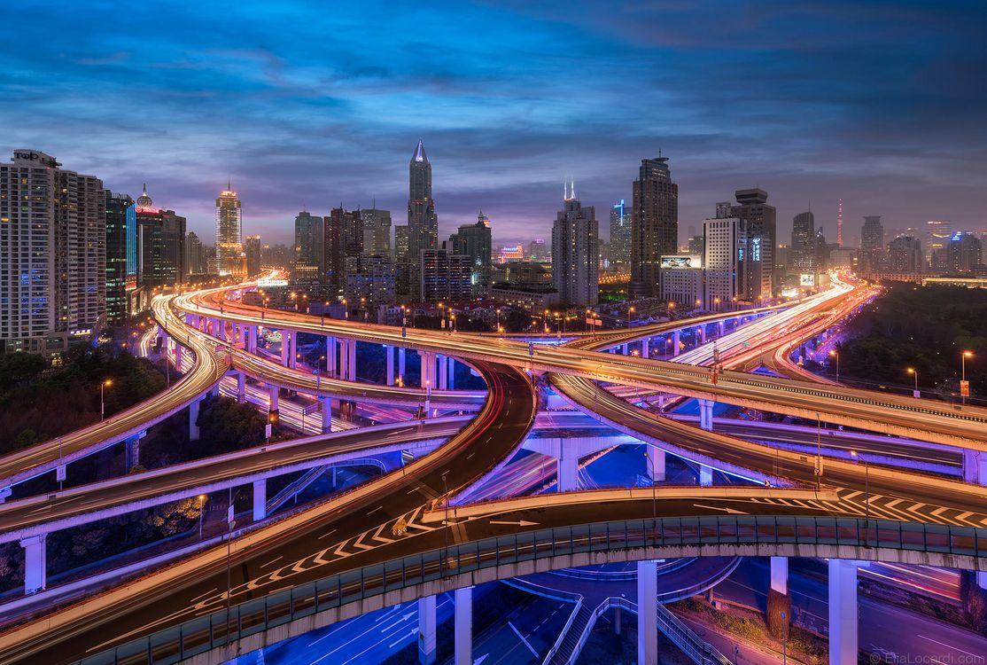 Фото Городской эпицентр Шанхая Шанхай Китай - бесплатные картинки на Fonwall