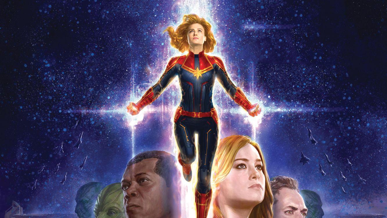 Фото бесплатно Captain Marvel, супергерои, художественное произведение - на рабочий стол
