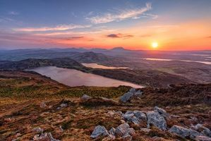 Бесплатные фото графство Донегал,Ирландия,закат,озеро,пейзаж