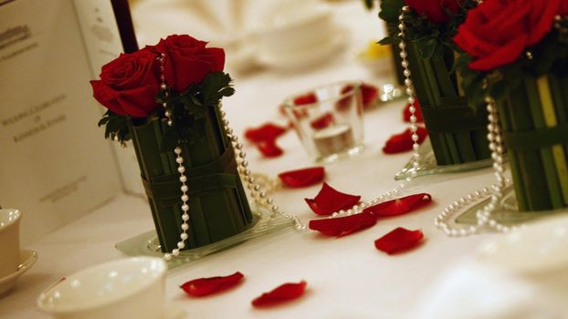 декор, украшения, бусы, розы, жемчуг