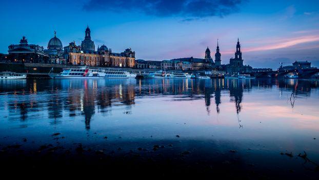 Заставки закат, панорама, Dresden
