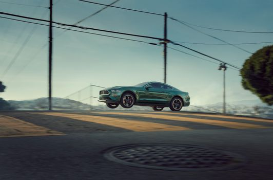 Photo free leap, Ford Mustang, coupe