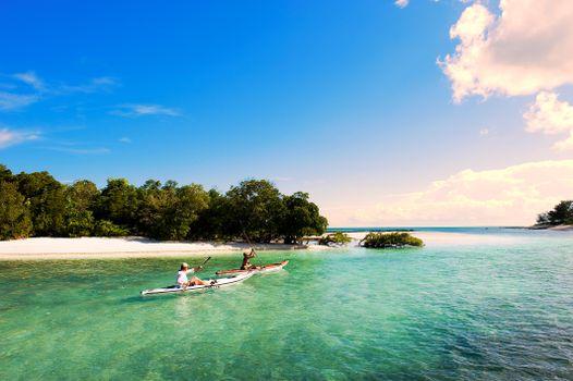Фото бесплатно море, лодки, пляж