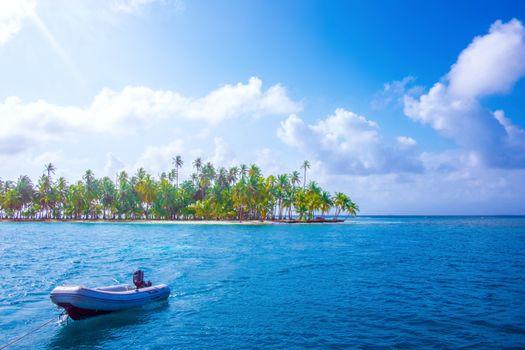 Фото бесплатно лодка, остров, тропики