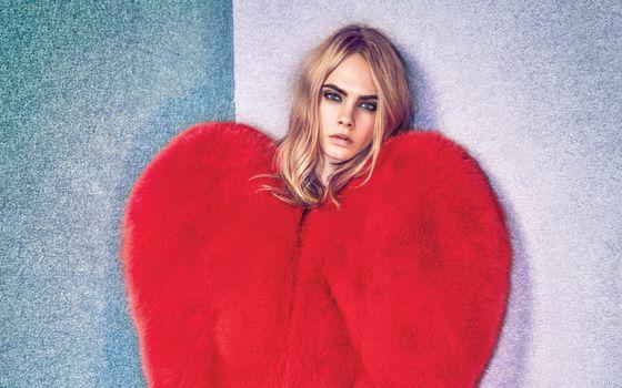 Фото бесплатно Кара Делевинь, блондинка, модель