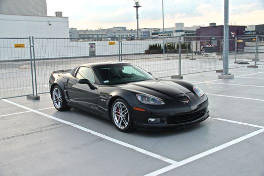 Photo free chevrolet corvette z06, parking lot, supercars