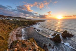 Бесплатные фото Foreland Point,Gweedore,графство Донегал,Ирландия,закат,море,скалы