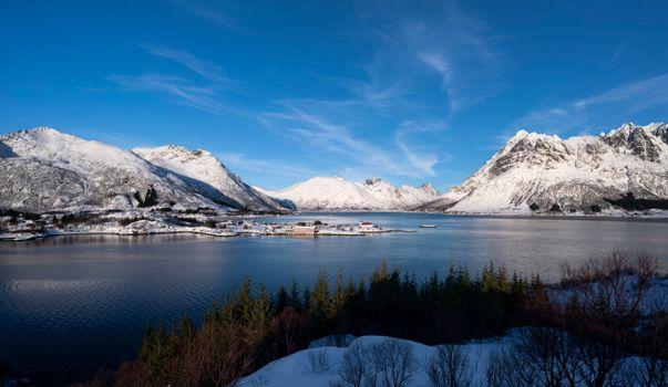 Фото бесплатно Норвегия, фьорд, горы