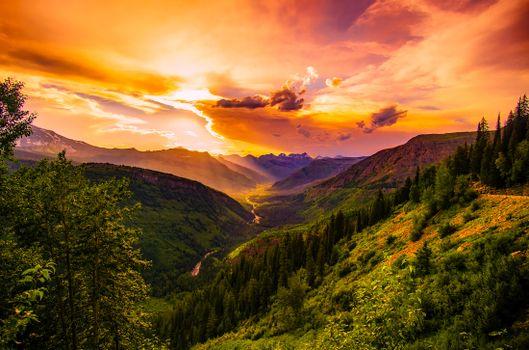Фото бесплатно закат, сумрак, рассвет