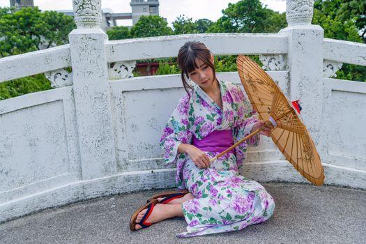 Photo free young woman, kimono, asian