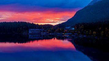 Бесплатные фото Bavaria,Германия,закат,озеро,здание,bavaria,germany