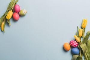 Фото бесплатно цвета, пасхальные тюльпаны, праздники