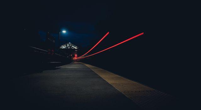 Фото бесплатно ночь, улица, интервальной съемки