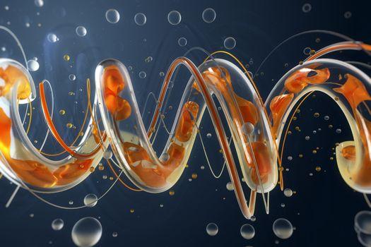 Photo free spiral, bubbles, data transfer