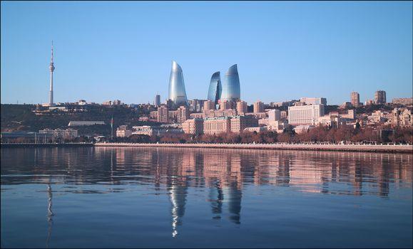 Бесплатные фото Панорама,Баку,Азербайджан