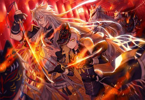 Фото бесплатно мальчики из аниме, меч, ...