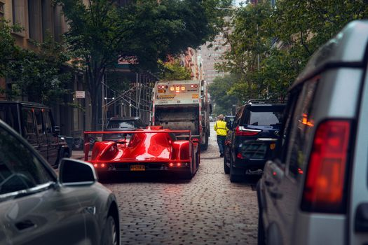 Фото бесплатно машины, красная машина, город