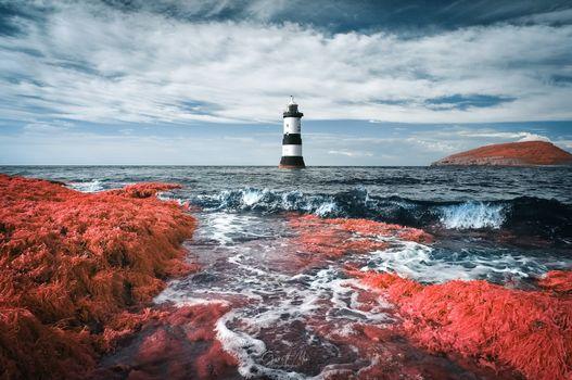 Заставки маяк, морской пейзаж, океан