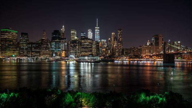 Ночной Нью-Йорк · бесплатное фото