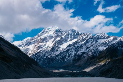 Фото бесплатно горы, Новая Зеландия, облака